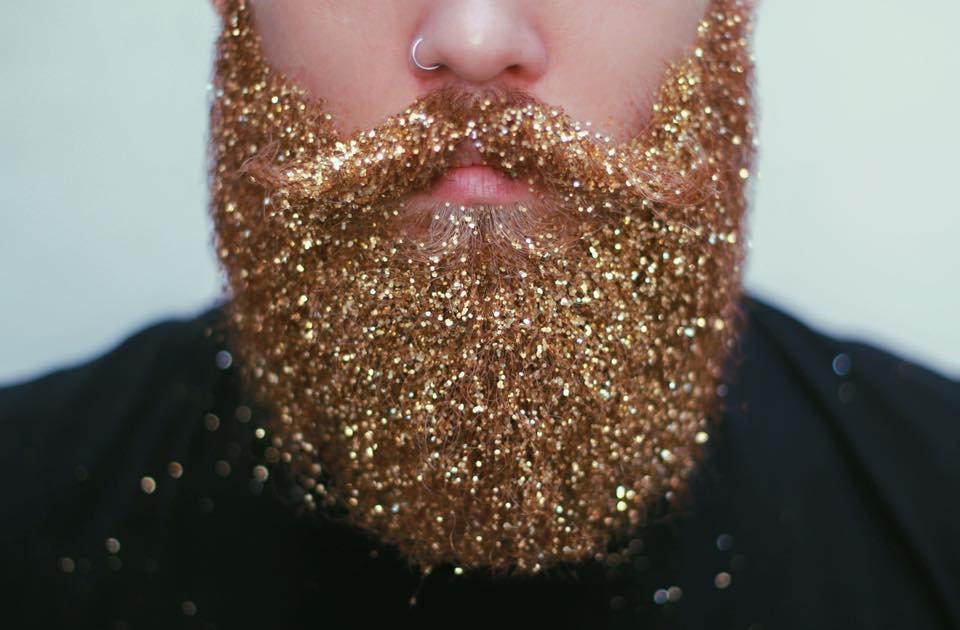 Gouden glitterbaard