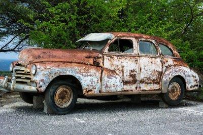 Roestige auto