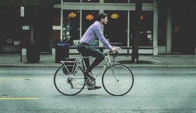 fietsen naar het werk
