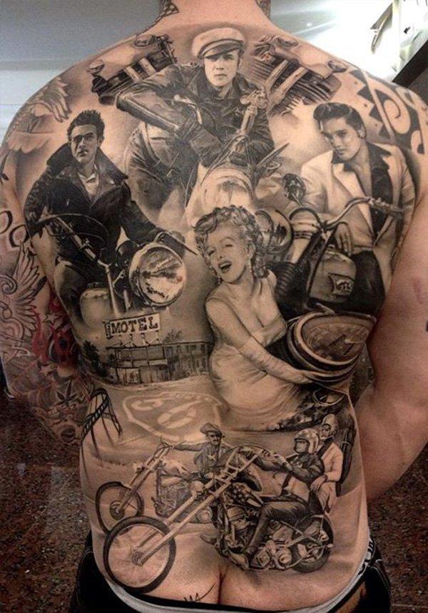 tattoo collage rug