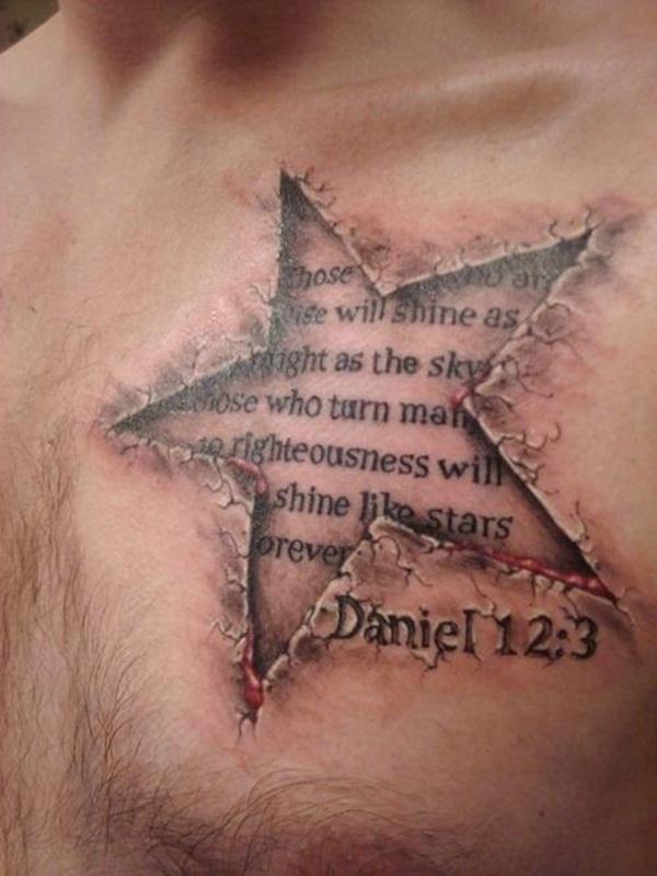 Tattoo bijbeltekst borts