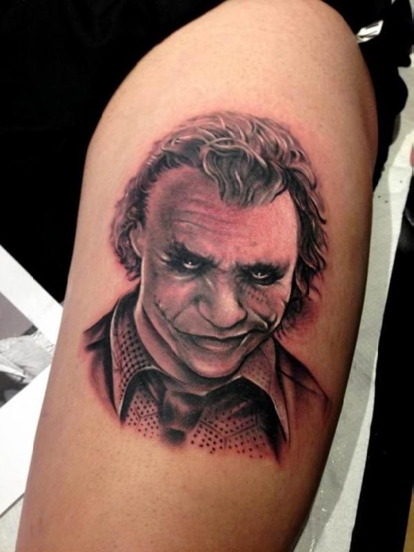 tattoo bekende figuren bovenarm