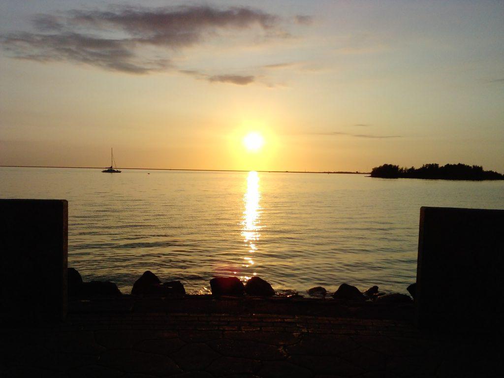 zonsondergang IJsselmeer