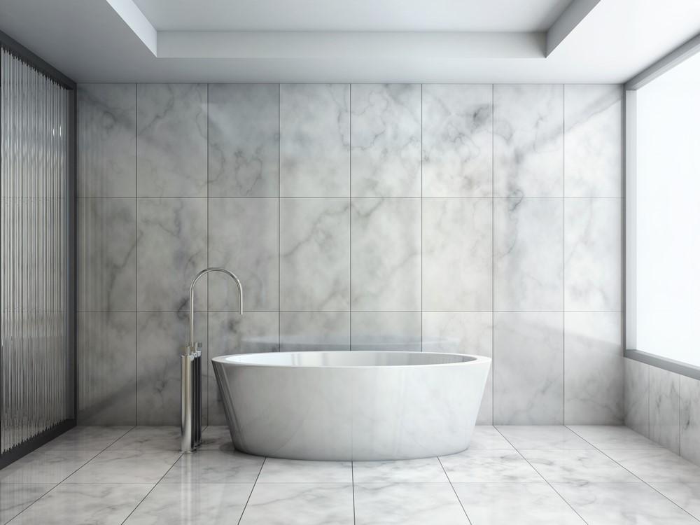Marmer in badkamer - Mannennieuws