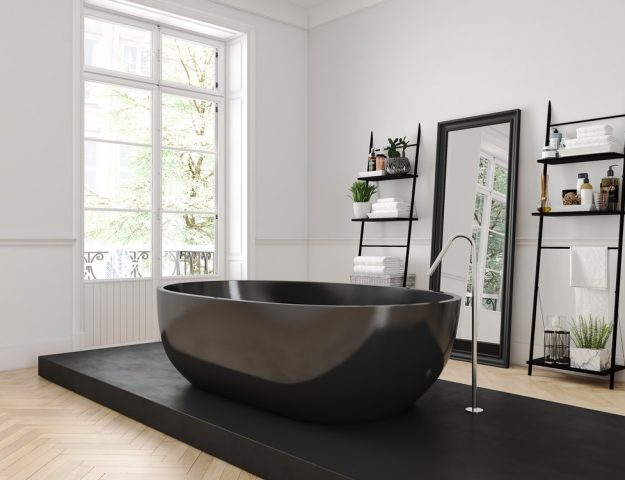 Zwart in Badkamer