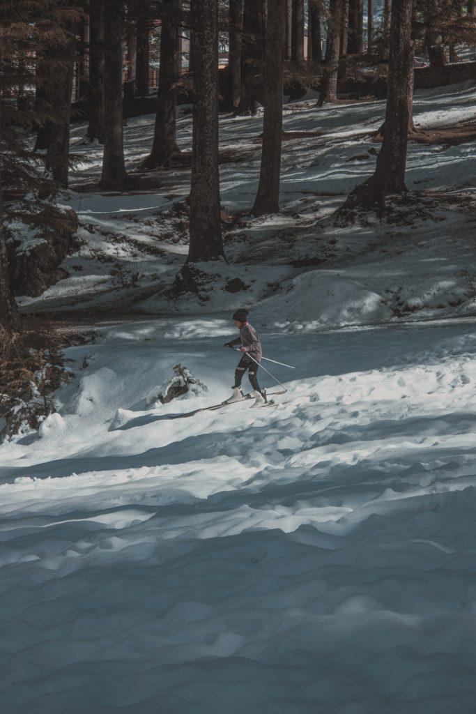 ski door het bos formigal