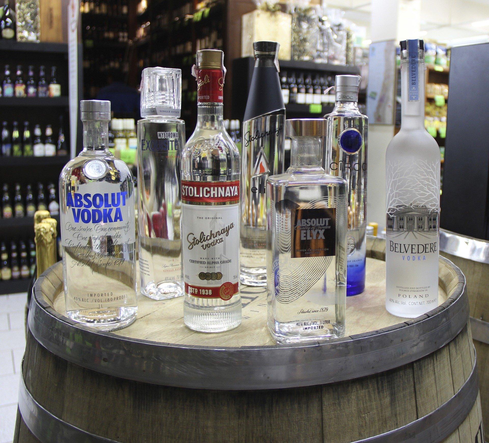 Ook buiten Polen en Rusland wordt wodka geproduceerd.