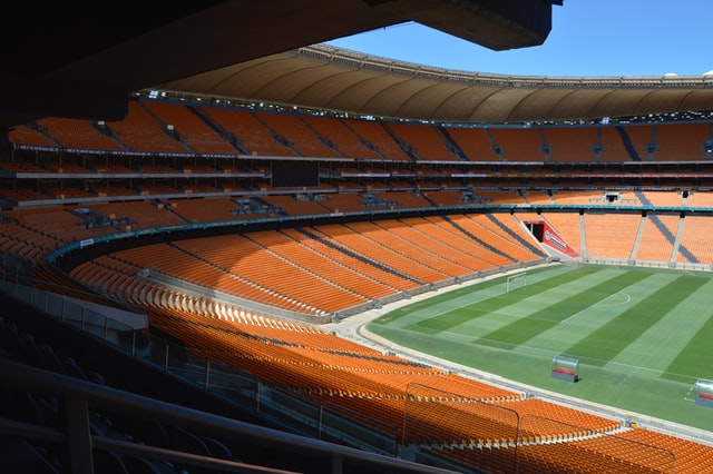 Soccer city, enorm stadion