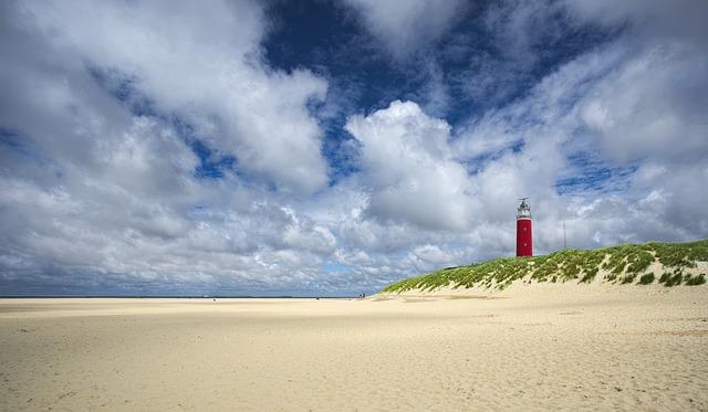 De geweldige stranden van Texel
