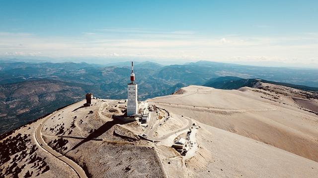 De Mont Ventoux een loodzware beklimming