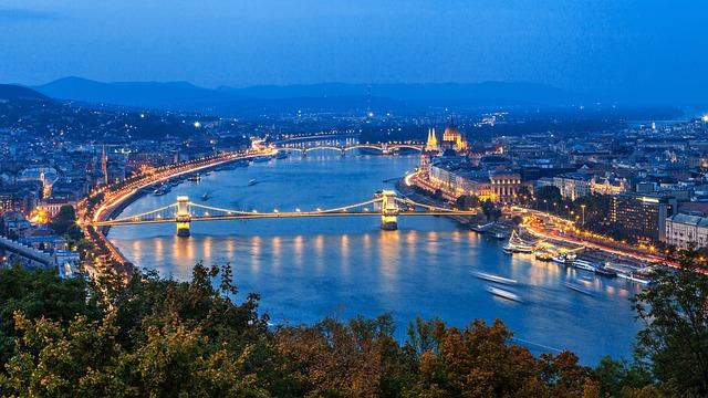 De Donau in de stad Boedapest