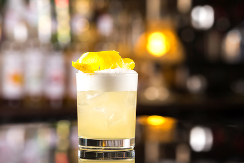 Whisky sour mannen cocktail